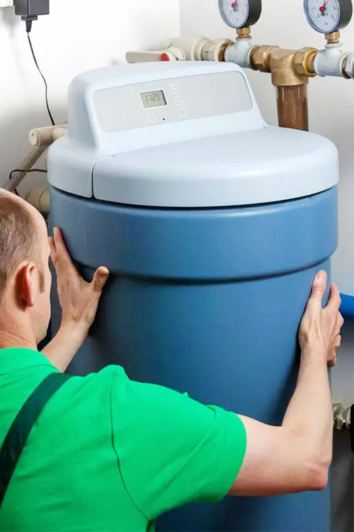 How to install a water softener image